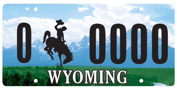 Sample Wyoming Plate