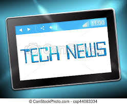 Computer Monitor Displaying the Phrase Tech News