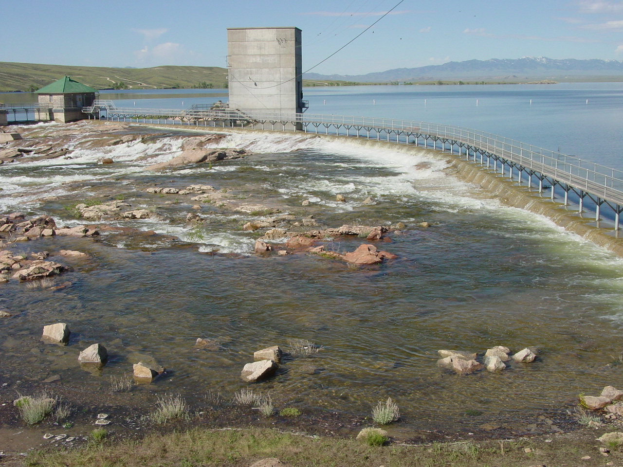 Pathfinder Reservoir Spillway - June, 2010